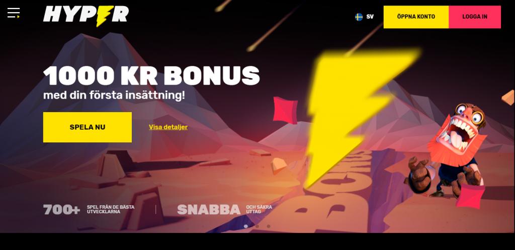 Hyper Casino bonus