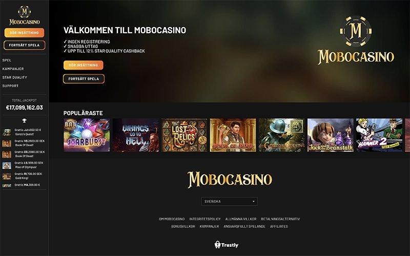 MoboCasino bonus