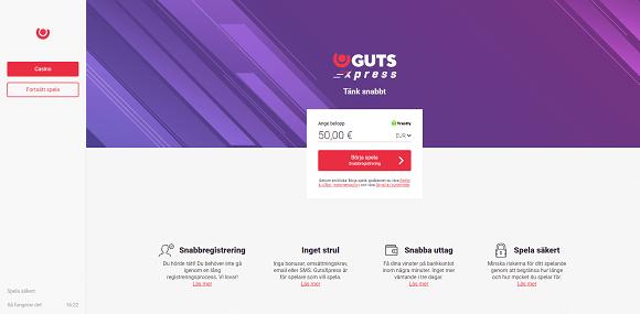 GutsXpress bonus