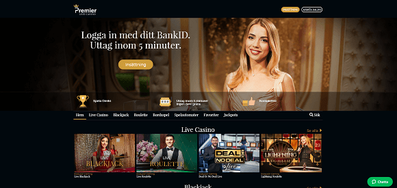 Premier Live Casino bonus