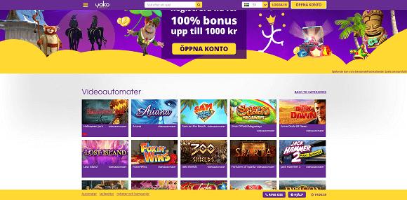 Yako Casino spel