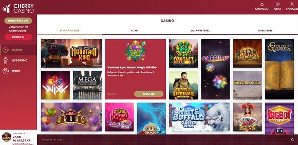 Cherry Casino spel