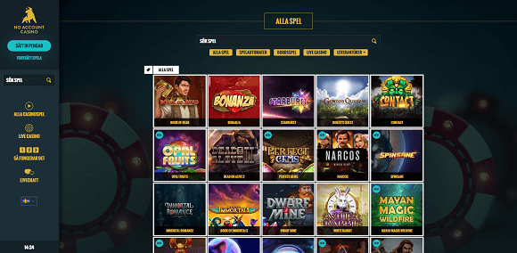 No Account Casino spel