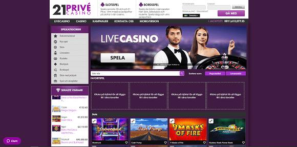 21Privé Casino Spel