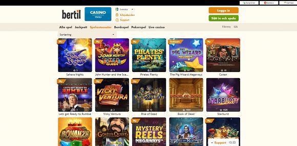 Bertil Casino spel