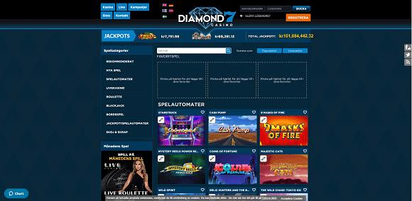 Diamond7 Casino Spel