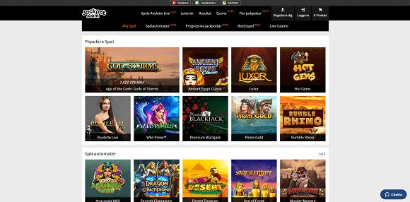 Jackpot.com Spel