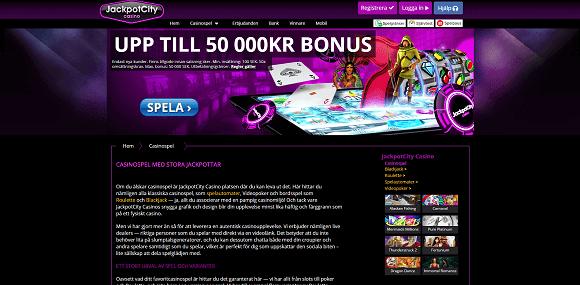 JackpotCity Casino Spel