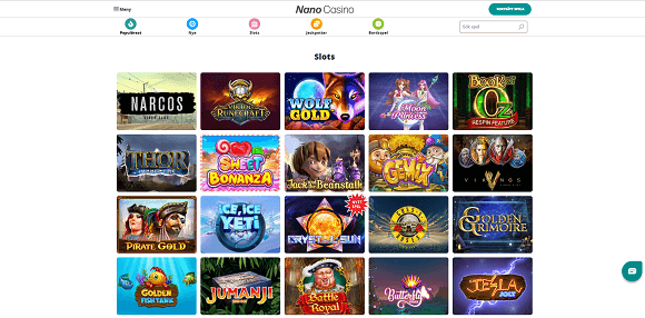 Nano Casino spel