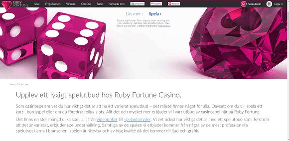 Ruby Fortune Spel