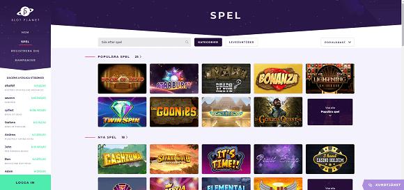 Slot Planet Spel