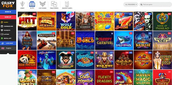 Crazy Fox Casino Spel